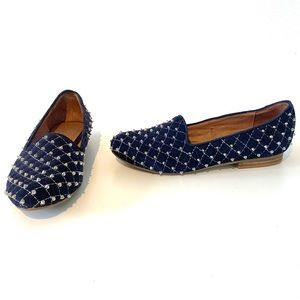 Jeffrey Campbell | Ibiza navy suede studded loafer